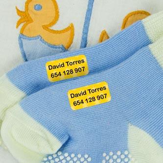 Mini Iron-On Clothing Labels