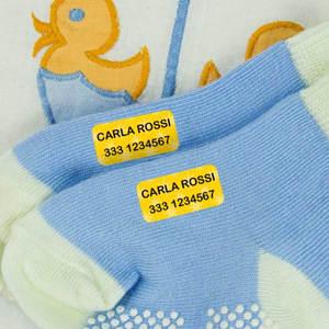 Etichette termoadesive mini per vestiti