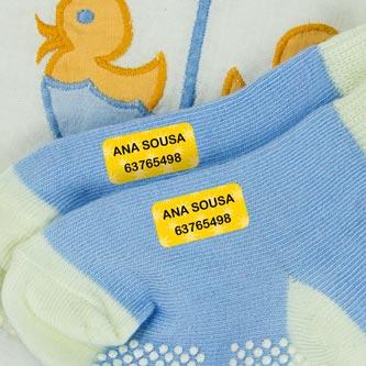 Etiquetas para roupa minis