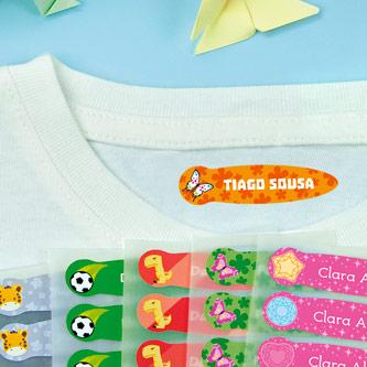 Etiquetas para a roupa Pequenas Temáticas