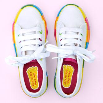 Muotoillut kenkätarrat