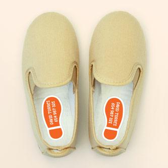 Etiquetes per a sabates de petjades