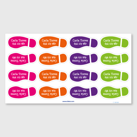 Foot steps labels