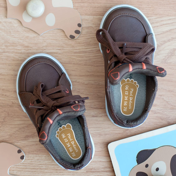 Etiquettes chaussures Pied