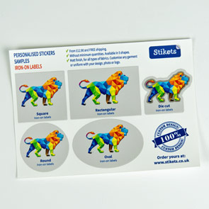Sample Iron-On Labels