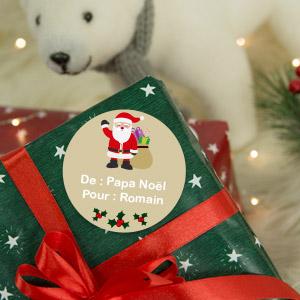 Etiquettes cadeaux de Noël  personnalisées