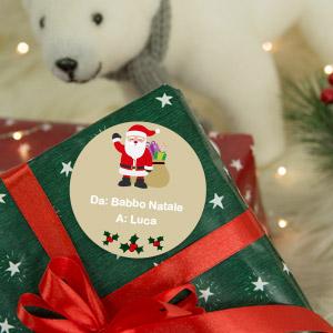 Adesivi personalizzati per regali di  Natale