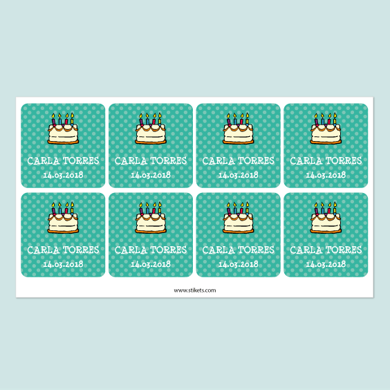 Personalized Square Gift Labels