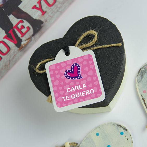 Etiquetas para regalos personalizadas cuadradas