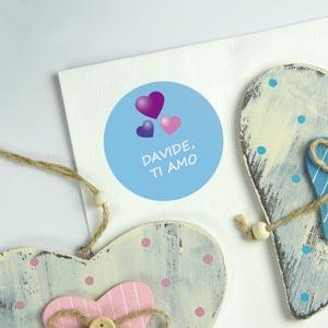 Adesivi rotondi per regali personalizzati