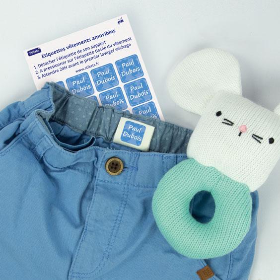Étiquettes autocollantes pour vêtements