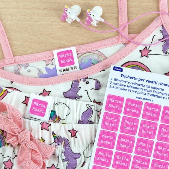 Etichette adesive per vestiti
