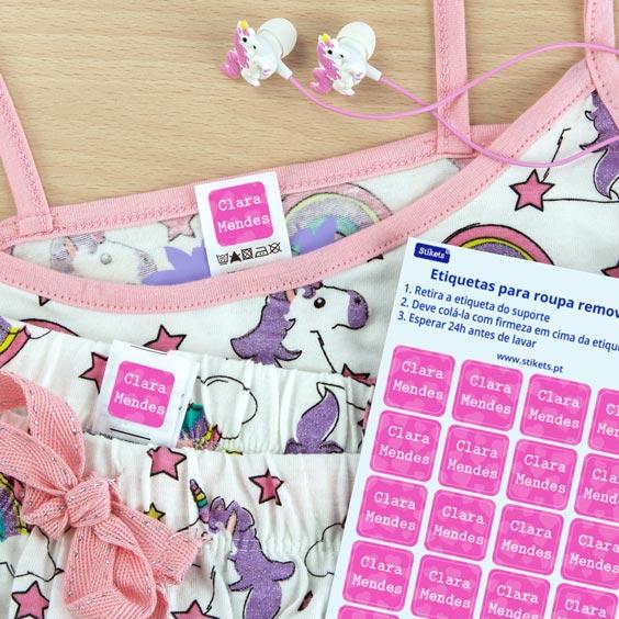 Etiquetas adesivas para roupa