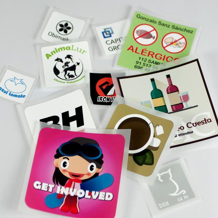 etiquetas ropa cuadradas A