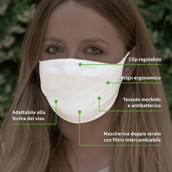 Maschera per adulti + confezione da 10 filtri