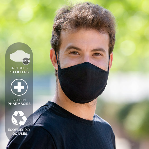 XL Antivirus Face Mask + Pack of 10 filters
