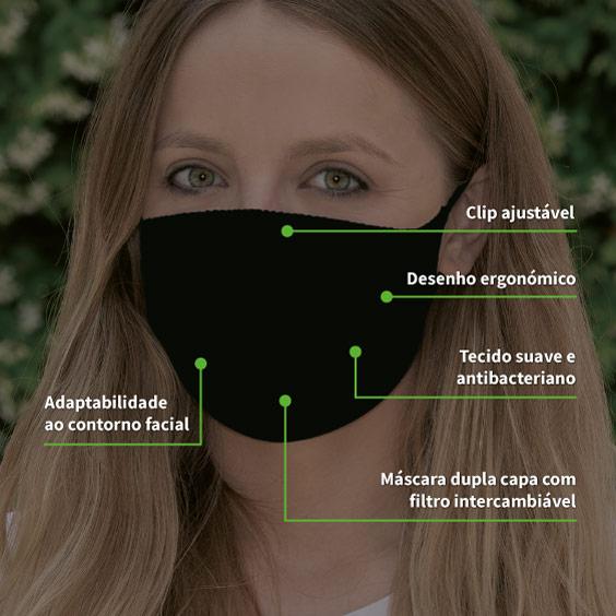 Máscara Proteção XL + pack 10 filtros