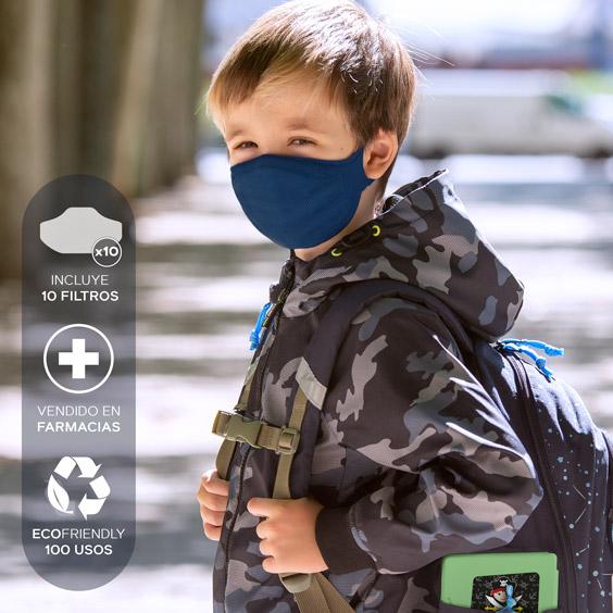 Mascareta per a nens de 6 a 12 años + pack de 10 filtres