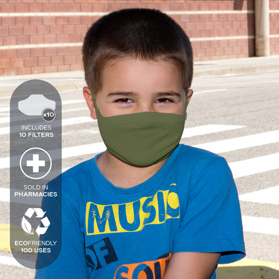 Mask for children from 3 to 5 years + Pack of 10 filters