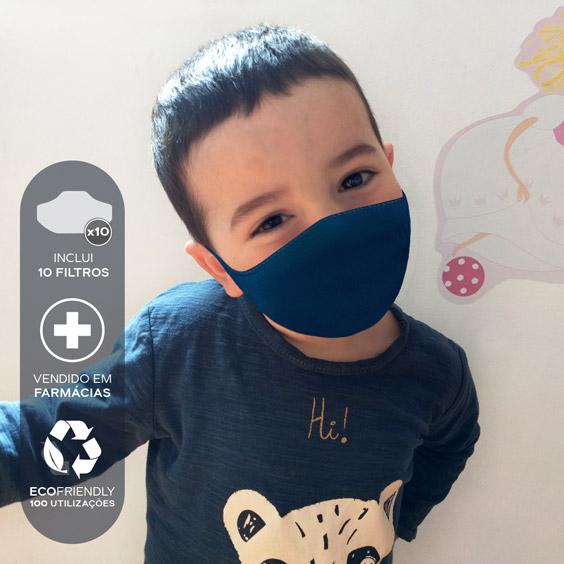 Máscara para crianças de 3 a 5 anos + Pack de 10 filtros