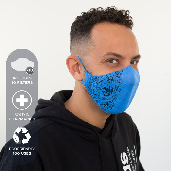 Personalized antivirus face masks size adult + a pack of 10 filters