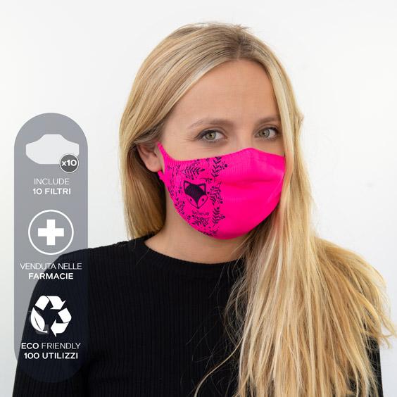 Mascherina antivirus personalizzabile per adulti + confezione da 10 filtri