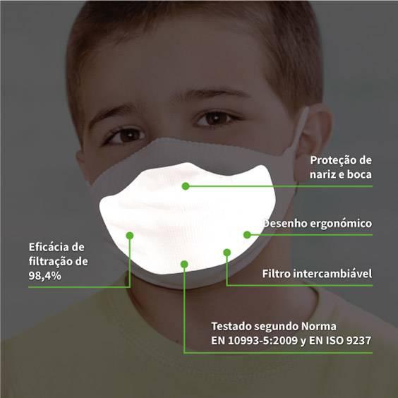 50 filtros de papel 3-5 anos para máscaras