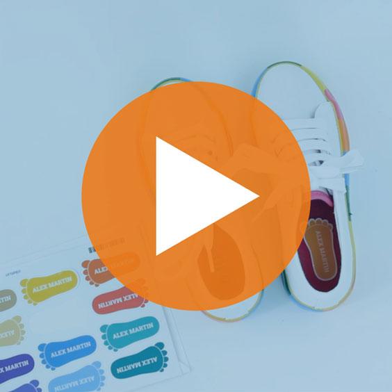 Footprint Shoe Labels