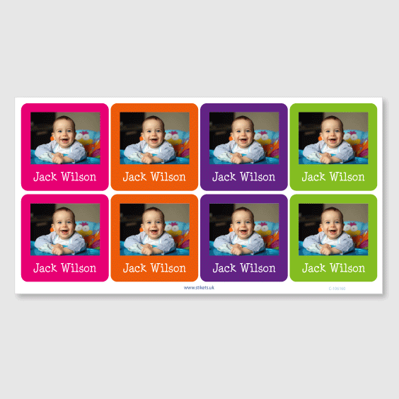Big Photo Sticky Labels