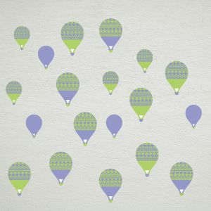 Blue-Green Balloons Wall Decals