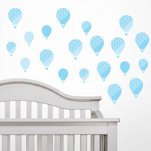 Textured Blue Balloons Wall Decals