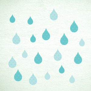 Mint rain drops wall stickers