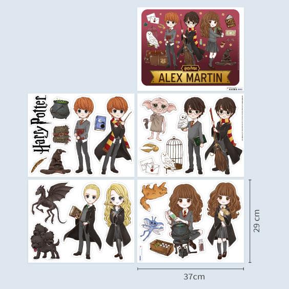 Personalizowane naklejki ścienne Harry Potter anime