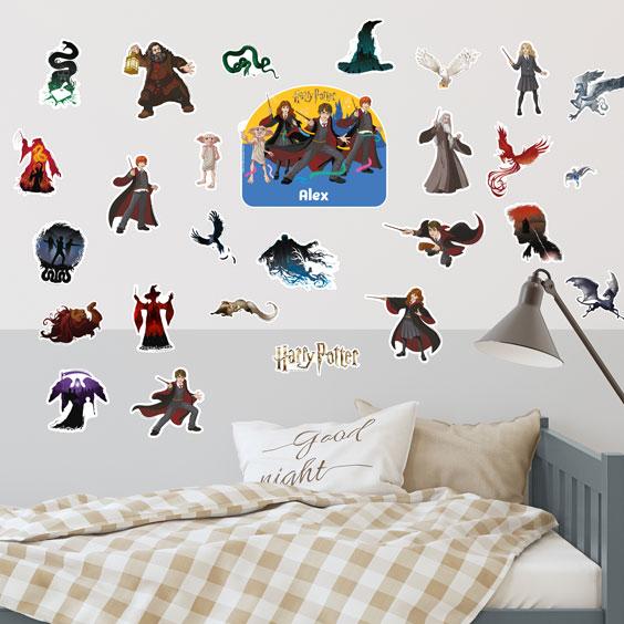 Personalizowane naklejki ścienne Harry Potter komiks