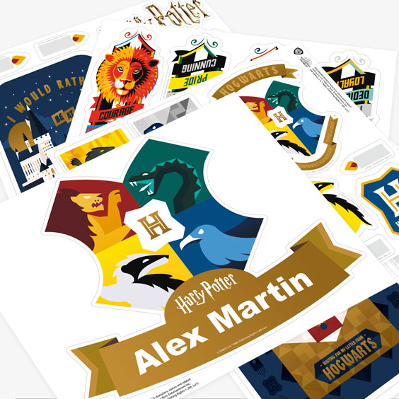 Personalizowane naklejki ścienne Harry Potter ikony