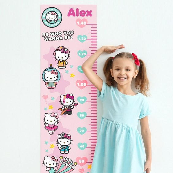 Hello Kitty Custom Growth Chart