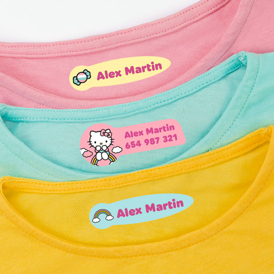 Hello Kitty Clothing Labels