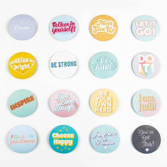 Magnets with inspirational messages