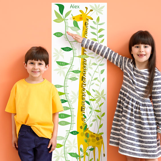 Jungle Giraffe Growth Chart