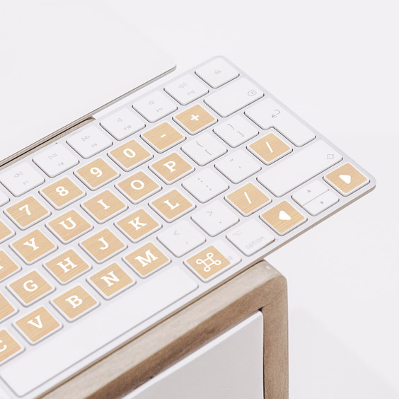 Keyboard Square Stickers
