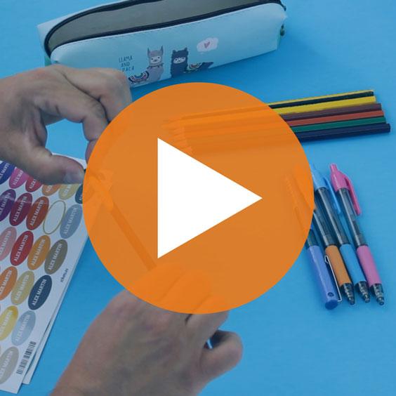 Etiquetes per a llapis escolars