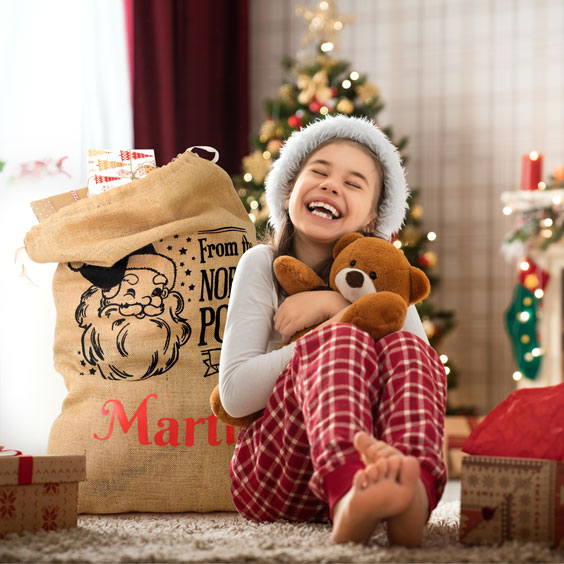 Grande hotte du Père Noël