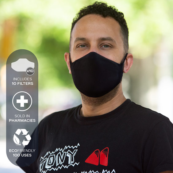 Mask for adults + Pack of 10 filters