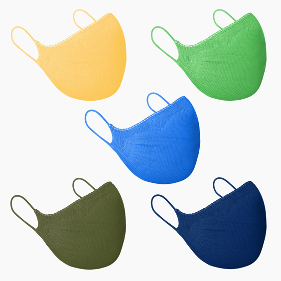 Lot of Masks in Different Colors and Sizes