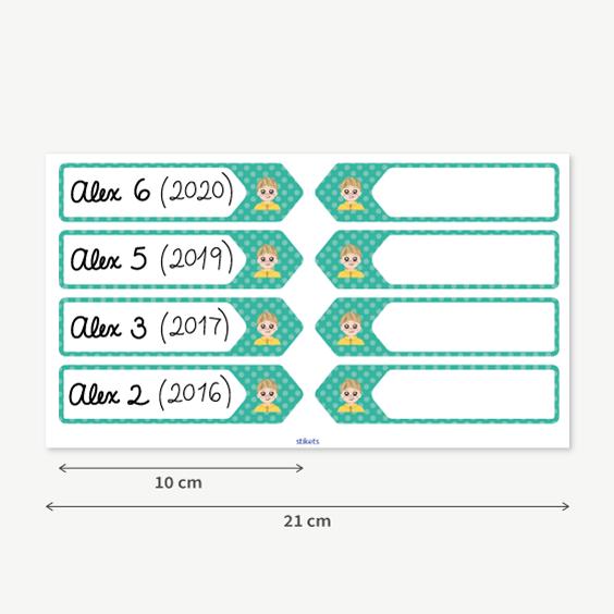 Growth Chart Progress Labels