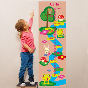 Personalised Forest Animals Growth Chart