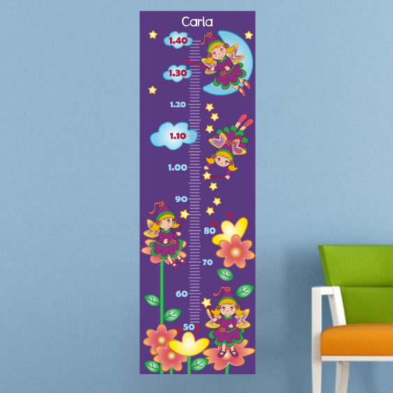 Personalised Fairies Growth Chart
