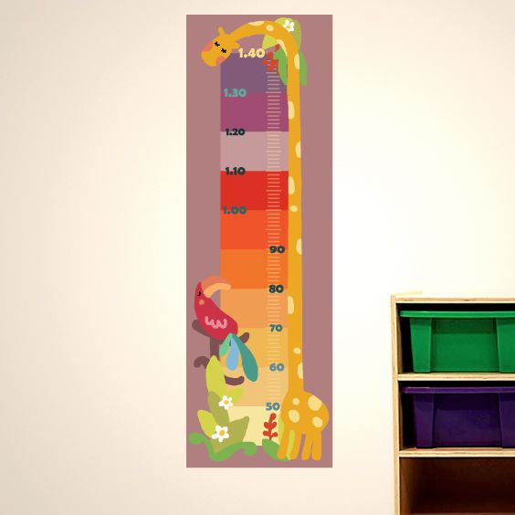 Colorful Giraffe Growth Chart