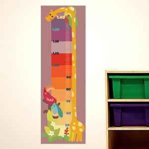 Colourful Giraffe Height Chart