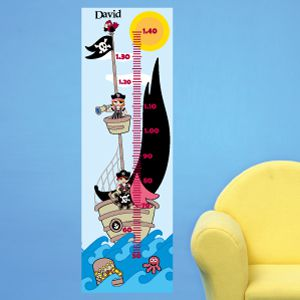Personalised Pirate Ship Height Chart